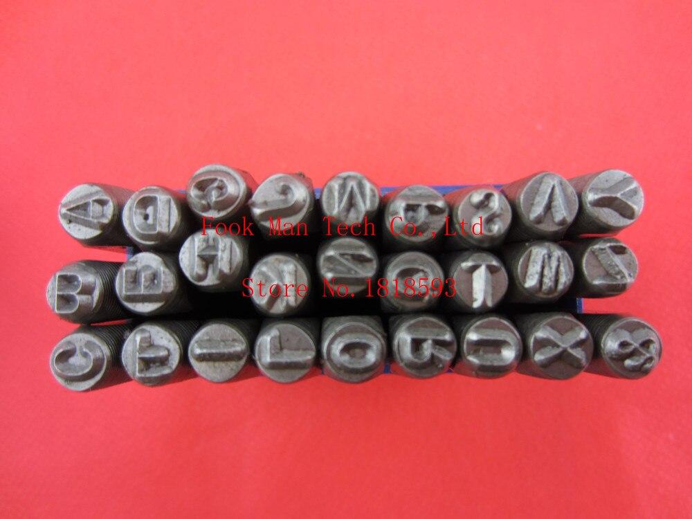 Livraison gratuite!! 4mm, poinçon d'estampillage, ensemble d'estampillage de poinçon de numéro en métal, ensemble de poinçon d'estampillage de lettre