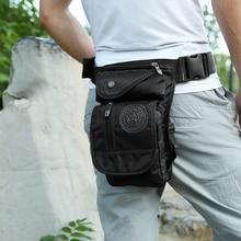 Erkekler Hip Hop bacak çantası su geçirmez naylon bacak Fanny paketi erkek Moto Biker bel çantaları çok fonksiyonlu taktik bel çantası seyahat cep
