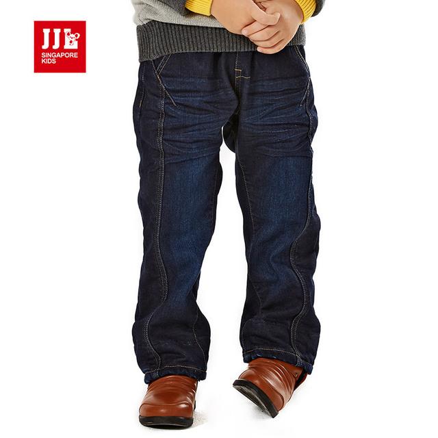 Niños pantalones de invierno para niños jeans niños sólidas robocar poli ripped jeans pantalones vaqueros del bebé embroma la ropa del muchacho ropa de la marca de moda