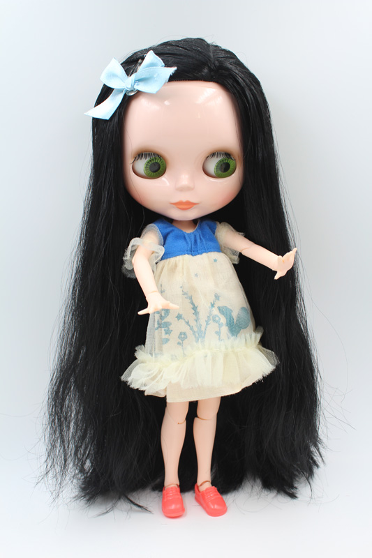 Free Shipping BJD joint RBL-221J DIY Nude Blyth doll birthday gift for girl 4 colour big eyes dolls with beautiful Hair cute toy цены