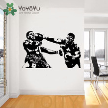 Removable Mike Tyson Wall Decal Sport Boxing Vinyl Sticker Dorm Club Home Decor Room Interior Creative Art Mural NY-52