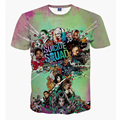 Майка Suicide Squad Женщин Мужские 3D футболка Человек Superhero Дэдпул Хип-Хоп Вскользь Уменьшают Подходящие Кино Джерси Уличной