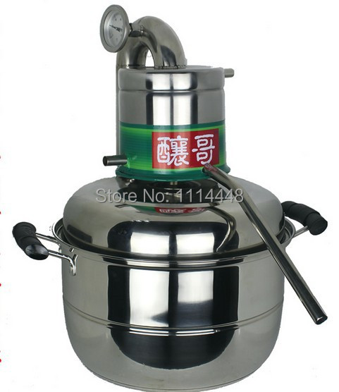Brand New Stainless Steel 10L Water Alcohol Distiller Home Brew Kit Still Wine Making Essential Oil Boiler
