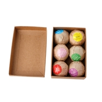 6pcs Organic Bath Bombs Bubble Salts Ball Essential Oil Handmade SPA Rose Flavor Jan18 B118