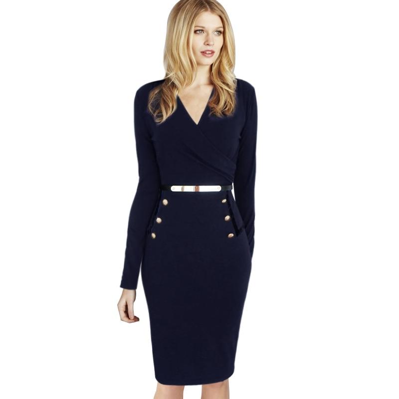 Original New 2015 Spring Summer Women Office Sleeveless Dresses Fashion Brand Womens Work Dress With Belt ...