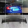 Для Honda Civic 4 двери 2016 2017 2018 карбоновое волокно заднее крыло багажника спойлер задний спойлер на крышу крыло багажника губы крышка багажника ...