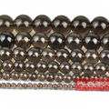 "Free Shipping Natural Stone Smooth Smoky Quartz Beads 16"" strand 6/8/10/12mm pick size SQB01"