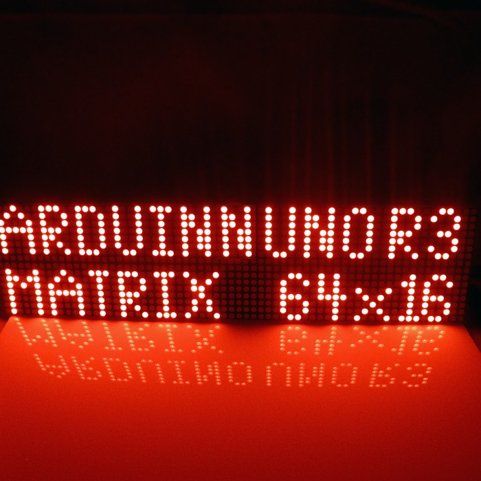 Led Displays Provide Uno Mega2560 Code 64x16 Dot Matrix Led For Arduino Avr Mcu Diy Christmas Gifts Sign Light Neon Bright
