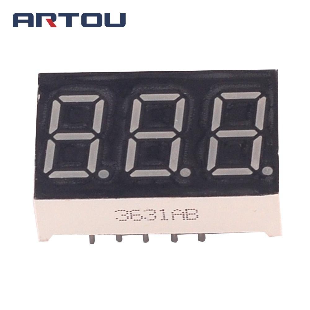 10PCS Common Cathode 3Bit Digital Tube 7 segment 0.36\