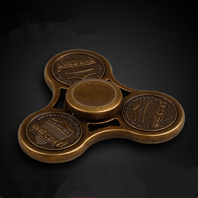 Alloy Metal Retro Style Coin Fidget Spinner Hand Spinner Finger Spinners Toys For Adult Kids