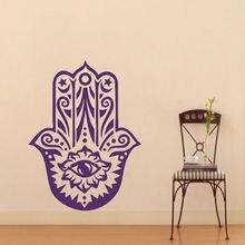 57x80 Art Home Wall Stickers Vinyl Decals Yoga Fatima Hand Hamsa Buddha Mural Nakleyka Na Stenu Decal Bedroom Sticker Y-113