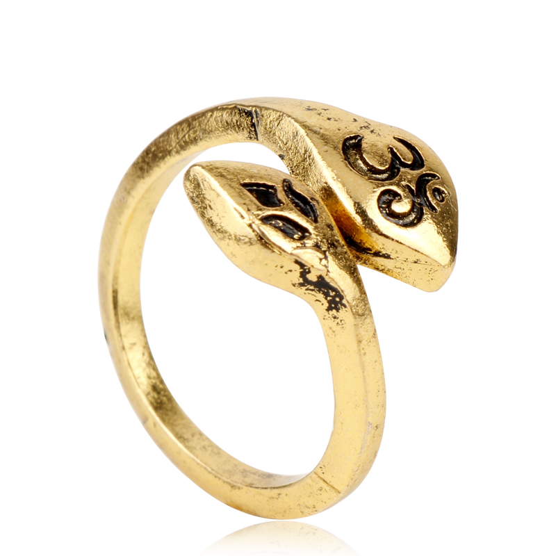 Ohm Om Lotus NEW Adjustable Lotus Flower and Ohm Ring 925 Sterling Silver
