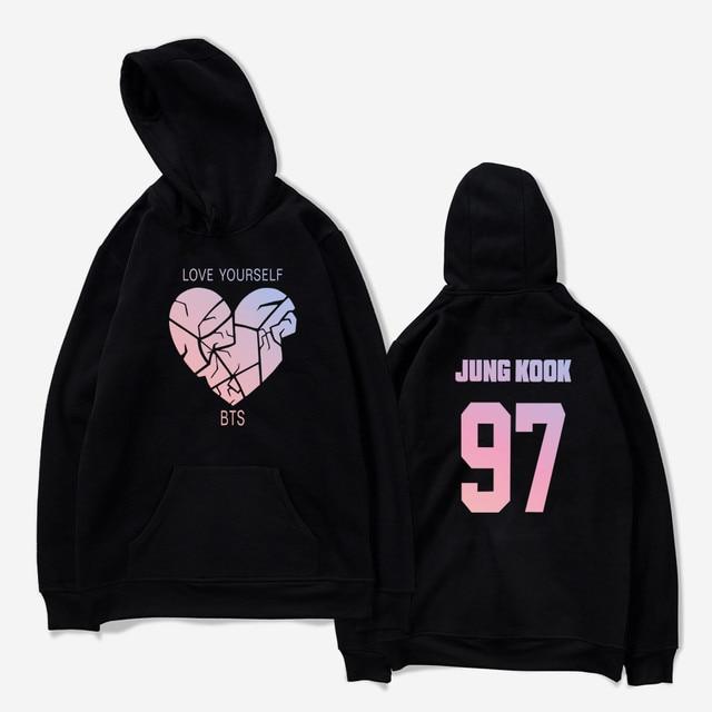 1b0f870a7a3 BTS Love Yourself Broken Heart hoodies women men korean Kpop hoodie  sweatshirt autumn winter Jacket