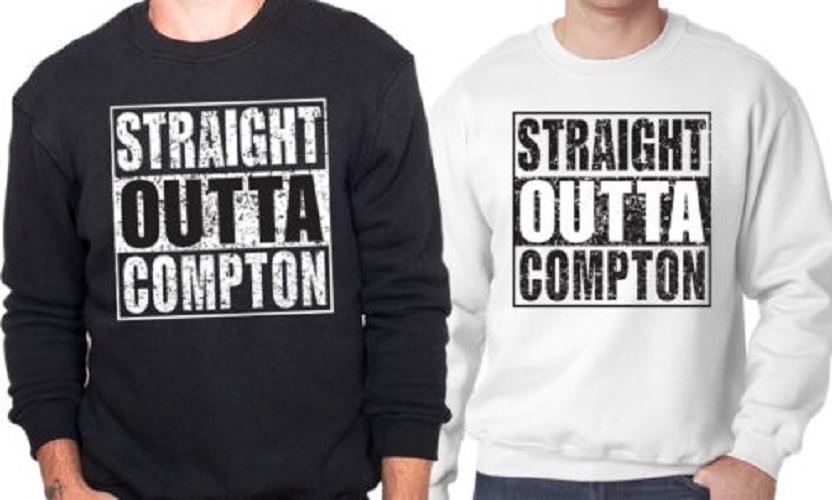 Eazy Dr Tops Oversize Cool Hop Cou Unisexe Ras Mode Sweat blanc Outta Dre Rnf E Du Noir Hip Imprimé Straight Hoodies Compton Pull IwSxCWqp