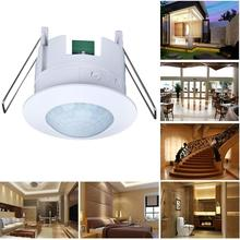 110-240V Infrared PIR Motion Sensor Switch Adjustable Ceiling Body Detector Lamp for
