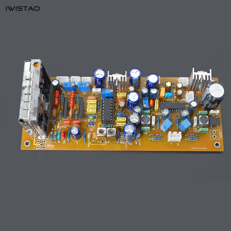 IWISTAO LA1235 FM Stereo Radio Tuner PCBA Finished Board High Frequency FAE317 IF TA7302P Decoder LA3401 iwistao finished tube fm stereo radio tuner whole aluminum chassis gold support bluetooth 4 0 sd card u hifi audio 110v 220v