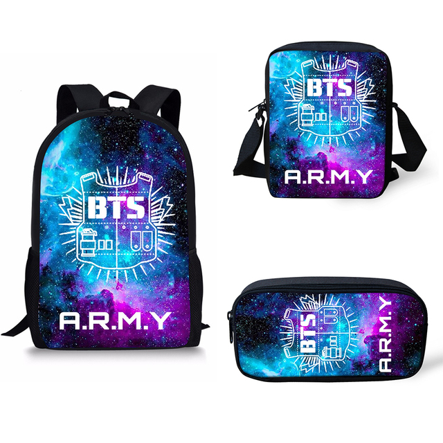 8a503595c09d US $6.99 30% OFF|BTS School Bags Harry Styles One Direction Printed School  Backpack for Girls Boys Orthopedic Schoolbag Backpacks Book Children -in ...
