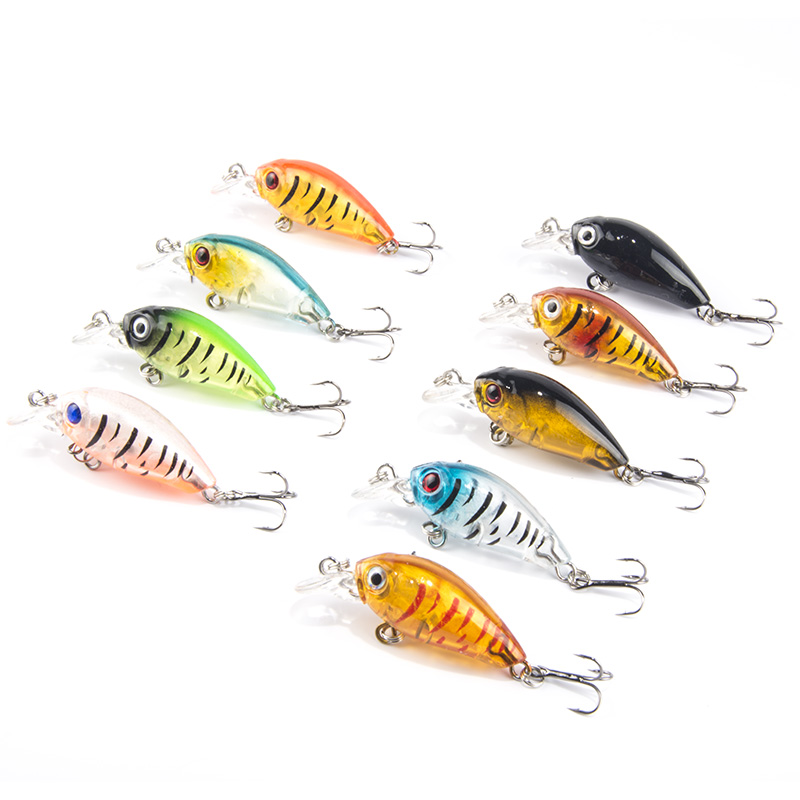 SEALURER 9gab / lot Mini Crazy Wobble pesca Crankbait Hard Crank Bait - Makšķerēšana