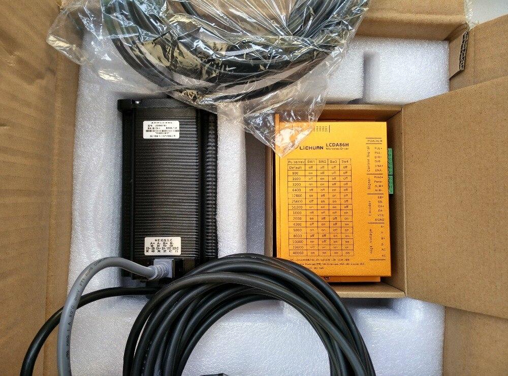NEMA34 12N. m 2 phase facile servo en boucle fermée moteur pas à pas kit d'entraînement CNC AC20-75V LCDA86H + LC86H2160