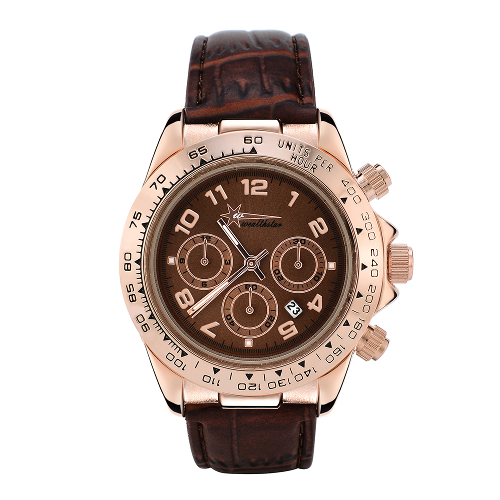 Wealthstar Brand Designer Watch Daytona Men's Outdoor Sports Leather Strap Quartz Watches Relojes Hombre Marca Famosa Auto Date