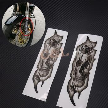 New Front Fork Skull Decals Graphic Stickers Fit For Harley Honda Ymaha suzuki Kawasaki Motorcycle Мотоцикл