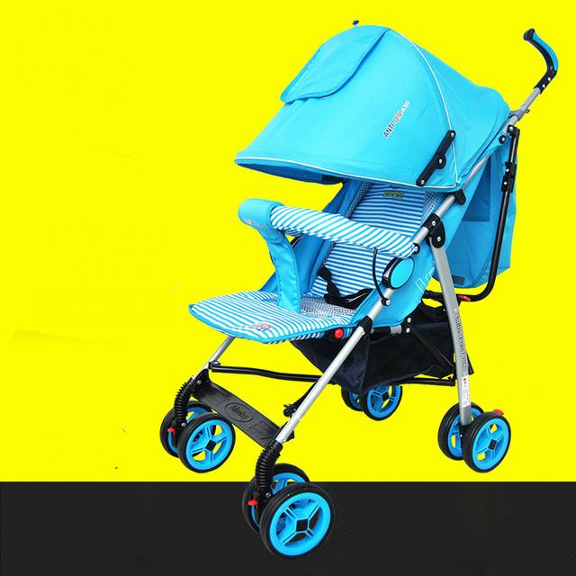 Portátil carrinho de bebê de quatro rodas carrinho de mão portátil e confortável pode mentir sobre dobrável carrinho de bebê