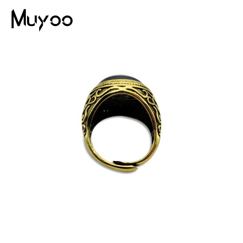 Anneaux Vintage Talisman, bijoux mauvais œil mauvais œil anneau Antique bonne chance Talisman Steampunk Style verre dôme anneau en cristal