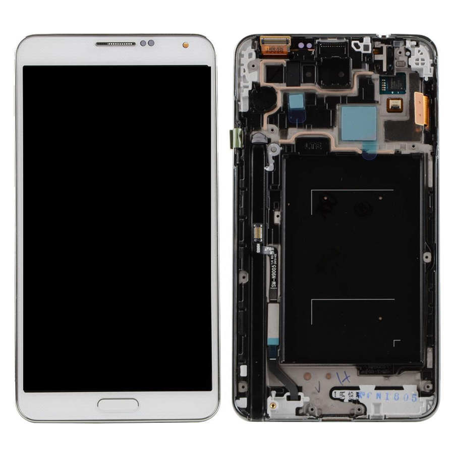 +Frame white LCD Display + Touch Screen Digitizer Assembly Replacement For Samsung Galaxy Note 3 N9005 Free Shipping