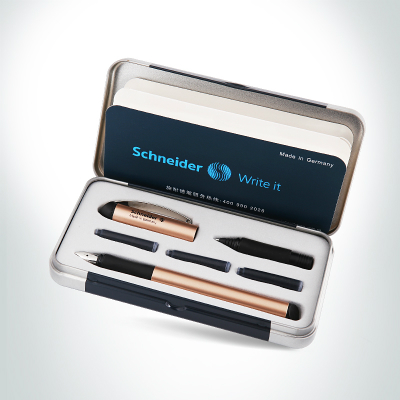 Germany Schneider Fountain Pen 0.5mm Two-way Signing Pen Gel Pen Students Office Ink Pen BK600 Gift Box 3 Colors Optional