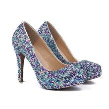 2016 Luxury Closed Toe Platform Wedding Party font b Shoes b font font b Women b