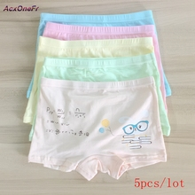 cotton Panties For Girls Kids Short Briefs baby girl underwear children underwear child cartoon shorts Underpants 5pcs/set 710-5