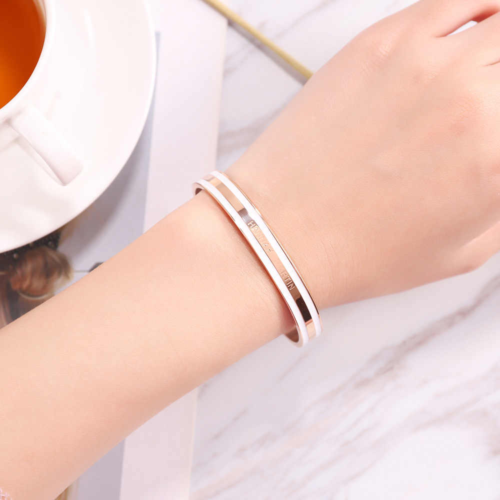 Hannah Martin Rose Gold Luxury Woman Bracelet and Bangles Fashion Women Jewelry Pulseiras Open Adjustable Bracelet Gift with box