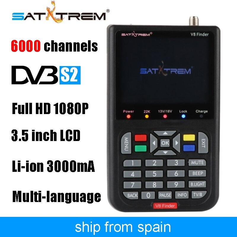 Satxtrem Noir V8 Finder Full HD 1080 p Numérique Satellite Réseau TV Récepteur DVB-S/S2 MPEG-4 Multilingue Assis Mètre récepteur
