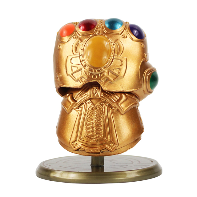 8cm Marvel Avengers Super Hero Infinity War Gauntlet Thanos Gloves Q Version PVC Action Figure Decoration