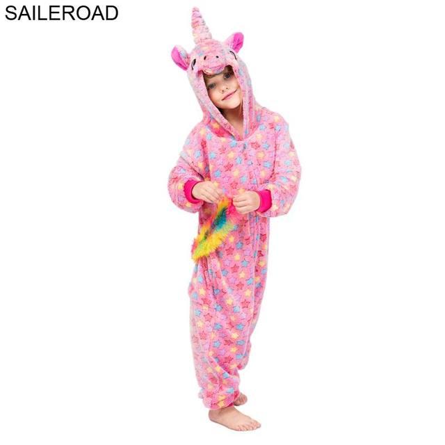 06baee776 SAILEROAD Children Kigurumi Cartoon Pajamas for Children Bathrobe ...