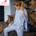 2016 New Spring Winter Women Casual Suit 2 Piece Clothing Set Fashion Side Split Ladies Sexy Tracksuit Pants Hoodie Suit