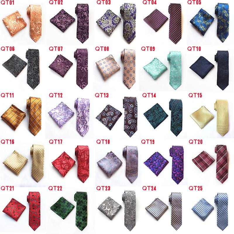 Модные геометрические формы бриллиантовый стиль Серебряный галстук Стразы запонки набор свадебный тонкий серебряный галстук для жениха г... - 2