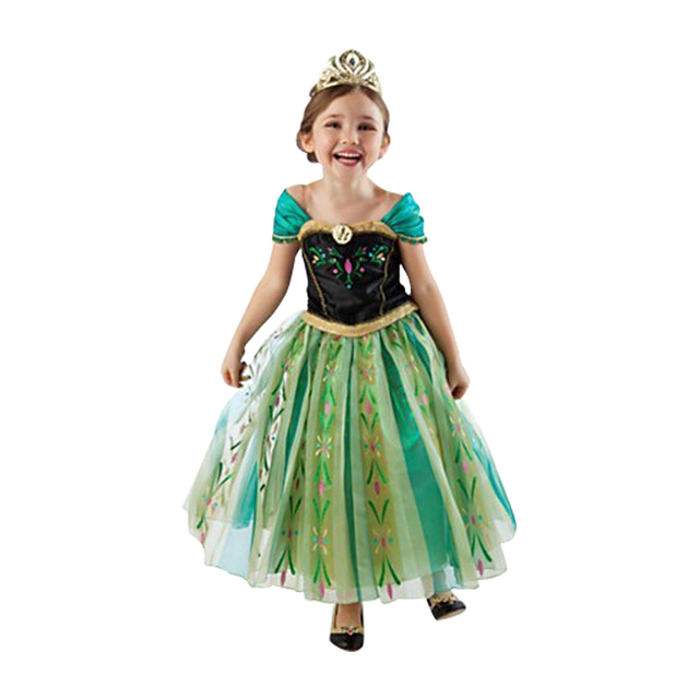 Hot 2017 Summer Girl Fashion Elsa Anna Dress Children Clothing Girls Princess Elsa Anna Party Dresses Baby Kids Clothes Vestidos 5