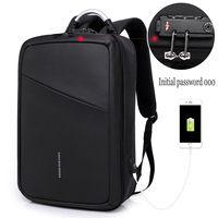 2018 New TSA Lock Design Anti thief USB Recharging Fashion Backpack Travel Business Large capacity Waterproof Suitcase Backpack