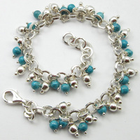 SOLID SILVER Sky Blue LARIMAR Bestseller Bracelet 8