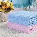 Cobertor Do Bebê Swaddle Cobertores do bebê Recém-nascido de 2016 Venda Nova Chegada 1 pc 100% De Malha De Bambu Sofá Cobertor Xadrez Respirável 100*140