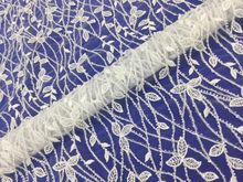 ФОТО new pattern  5yards mx02#  off white  sequins and beads  rattan  mesh lace fabric for bridal wedding dress/sawing free shipping