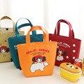 Oxford Foil Bolsa Termica Para Marmita Thermos Cooler Bag Lunch Bag Tote Handbag with Zipper for Women Girl Leisure Bags