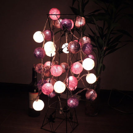 3.9M Christmas Fairy Lights Wedding Holiday Party Home Decoration 35 Ball Coffee Fabric Cotton Ball Light String Guirnalda Luces