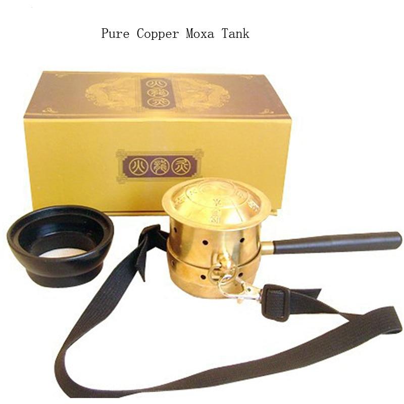 High Quality Pure Copper Moxa Tank Facial Beauty Body Moxibution Health Care 1 set