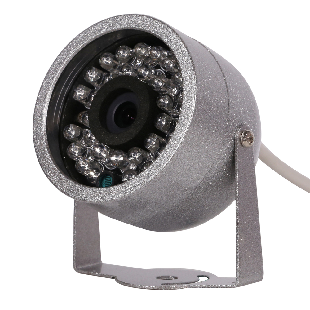 CMOS 800TVL With Audio surveillance 30 LED night vision Security Outdoor Color metal shell Waterproof CCTV Camera cmos color surveillance security camera with 6 ir led night vision pal 6v 9v dc