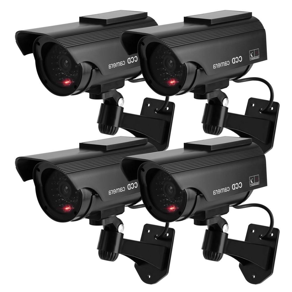 4 X Dummy CCTV Camera Security Dome Surveillance Cam Fake Ir Led Flashing Light