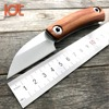 LDT Razor Mini Folding Knife D2 Blade Wood Handle Sharp Camping Knives Survival Tactical Hunting Camping
