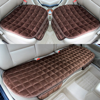 Universal 3Pcs/Set Front Rear Winter Warm Car Seat Cover Cushion Pad For Granta Vesta Toyota Chevrolet Passat Chery KIA Mazda