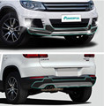 Fit For Volkswagen VW Tiguan 2013-2015 Front + Rear Bumper Difusor para Choques Lip Guard Protector skid placa ABS acabamento cromado 2 PCS